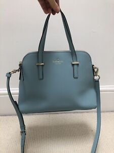 Kate Spade Blue Handbag With Handles And Strap Used Once