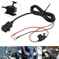 Nero 12V-24V 2.1A porta di Alimentazione USB Caricabatteria Presa per Moto