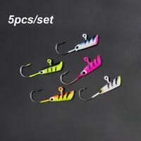 5Pcs/Set 28mm/1.9g Fishing Lure Fishing Hook Maggot Worm Metal Bait Ice Jig Set!