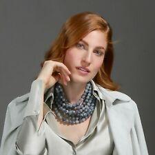 FAIRCHILD BALDWIN Two Tone Bella multi-strand Bead Collar Necklace MYSTIC VIOLET