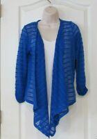 Rafaella Drape Open Front Sweater Blue or Red Women's Sz S-M NWT MSRP$58