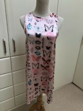 Ladies Kimchi Blue Pink Butterfly Patterned Shift Summer Dress Size Small BNWOT