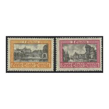 Danzig 1925 Buildings New Colours Scenic Definitive Stamps Set of 2 MUH(4-8)