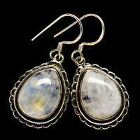 "Rainbow Moonstone 925 Sterling Silver Earrings 1 1/2"" Ana Co Jewelry E399799F"