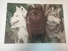 1990-1999 Limited Edition Wolf Print Art