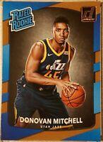 2017-18 Donruss Basketball Donovan Mitchell #188 **RATED ROOKIE** RC Utah Jazz
