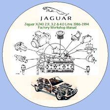 Jaguar XJ40 & Daimler 2.9, 3.2 & 4.0 Litre 1986-1994  Factory Workshop Manual