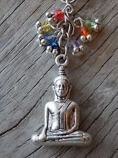 Buddha Keyring, Chakra Key Chain, Rainbow crystal,Yoga Meditation Reiki Key ring