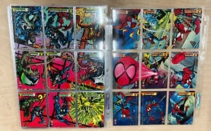 1994 1ST EDITION THE AMAZING SPIDERMAN COMPLETE 150 Card Base Set WITH SUBSET
