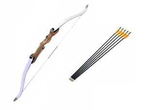 """68"""" Take Down Target Field Archery Hunting Recurve Bow and Arrows Set for Adults"""