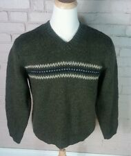 Abercrombie & Fitch Hand Knit Wool Sweater Mens M Ski Winter Warm Crew neck