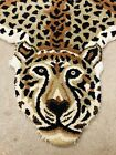 """Vintage Kaleen Couristan Faux Cheetah Rug Made In India 78""""x47"""""""
