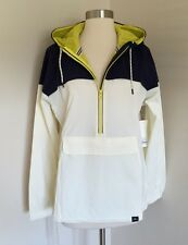 NEW BALANCE FOR J.CREW ESSENTIAL WINDBREAKER L $120 #f6358 Navy/Ivory SOLDOUT!