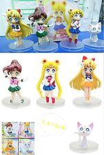 Sailor moon Anime Manga MINI Figuren 4er Set H:3.6-6cm Neu