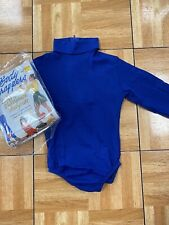 Long sleeve Body Wrappers Size Child 6x-7 Royal blue turtleneck cheer body suit