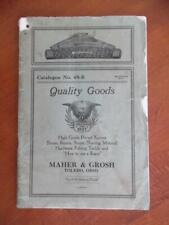 1928 Maher & Grosh Cutlery Pocketknife Catalog Tools Fishing Tackle More Vintage