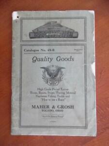 1928 Maher & Grosh Cutlery Pocketknife Catalog Tools Fishing Tackle More Vintage