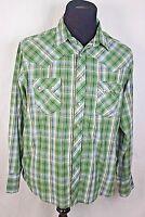 Wrangler Men's 2XL Long Sleeve Pearl Snap Plaid Western Cowboy Shirt