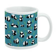 Panda and Bamboo Pattern White Mug
