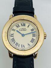 Cartier Must de Cartier Ronde Placcato in Oro Donna/da Donna di riferimento 1801