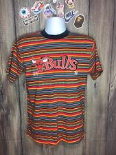 Vintage Chicago Bulls Striped T-Shirt Youth Size XL 90s Vtg NBA