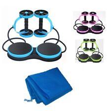 Muscoli addominali RUOTA doppia AB Roller Home Fitness Esercizio Allenamento Twister