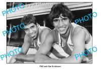 6 x 4 PHOTO NORTH MELBOURNE FC GREATS JIM KRAKOUER & PHIL KRAKOUER 1
