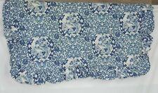 """Ralph Lauren King Porcelain Blue Tamarind Bird Pillow Sham Cotton ~ 38"""" x 22"""""""