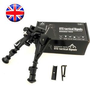 "Metal Spring Swivel Bipod  6""-9"" Adjustable for Hunting Aid Shooting Air Rifle"