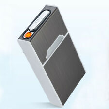 Usb Rechargeable Electric Built-in Flame Less Lighter Cigarette Case for 100's