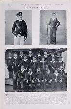 1897 BOER WAR GREEK NAVY PRINCE GEORGE SEAMEN CADETS OFFICERS THE SPETSAI