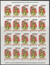 Latvia 19991 Non Postal stamps dedicated to occupation of Baltics original sheet