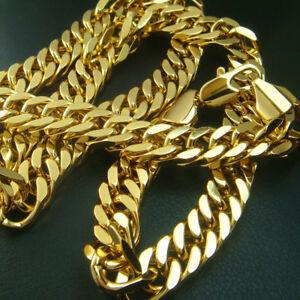 Men's 18K 18CT gold vacuum plating 50 60 70cm Lenght 10mm Width  Necklace