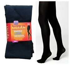 LADIES WOMEN THERMAL TIGHTS FLEECE LINED WINTER THICK BLACK 2.3 TOG RATED S-XL