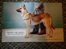 Old Vintage Calendar Picture Print Heidie German Shepherd Dog Trained for Safety