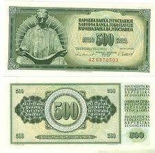 YOUGOSLAVIE billet neuf de 500 DINAR Pick91b NICOLAS TESLA LISANT  1981