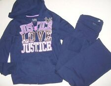JUSTICE Girls size 18 CAMI LOVE JUSTICE HOODIE JACKET YOGA PANTS OUTFIT