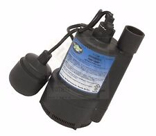 WATER SUMP PUMP 1/3 HP THERMOPLASTIC SUBMERSIBLE FLOOD DRAIN BASEMENT POOL TV