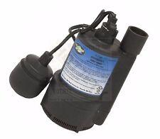 WATER SUMP PUMP 1/3 HP THERMOPLASTIC SUBMERSIBLE FLOOD DRAIN BASEMENT POOL TV