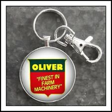 Vintage Oliver Farm Machinery Sign Photo Keychain Tractor Key Chain