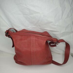 Coach Red Leather Shoulder Bag 12 inches Tall by 12 inches Wide
