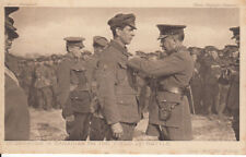 "WW1 Decorating a Canadian on the field of battle ""Daily Mail"" War Pictures"