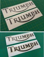 Triumph tank decals 200mm x 54mm stickers graphics restoration replacement