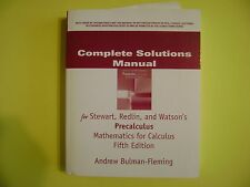 Complete Solutions Manual Precalculus Mathematics for Calculus 5E Stewart