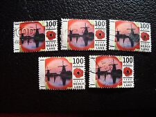 PAYS-BAS - timbre yvert et tellier n° 1547 x5 obl (A31) stamp netherlands (R)