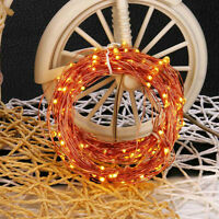 Copper Wire Solar Powered Fairy String Lights Lamps For Xmas Party Garden Decor