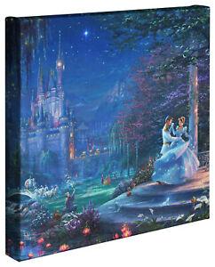 Thomas Kinkade Studios Disney Cinderella Dancing in the Starlight 14 x 14 Wrap