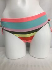 BILLABONG KIDS STRIPED SWIM BIKINI BOTTOMS PINK BLUE MULTI SIZE 14 NEW! $45