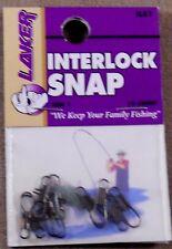 Trout Fishing 1 Pack Of 10 Laker # 1 Black Interlock Snap ILS1