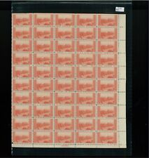 1934 United States Postage Stamp #741 Plate No. 21260 Mint Full Sheet